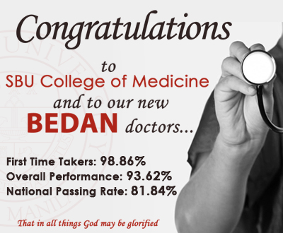 Congratulations New Bedan Doctors