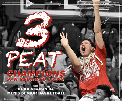 Three-Peat Champions! San Beda Red Lions