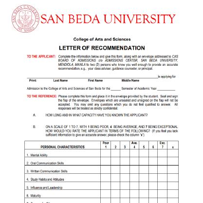 Downloadables San Beda University