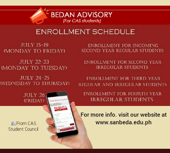 Online Enrollment (beta) for CAS - SAN BEDA UNIVERSITY
